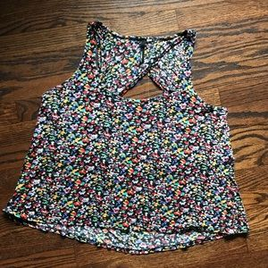 O'Neill open back floral crop top